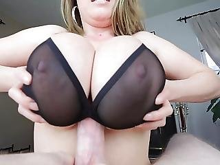 Tittyfuck Under Bra Massive Tits Cumshot Between Tits
