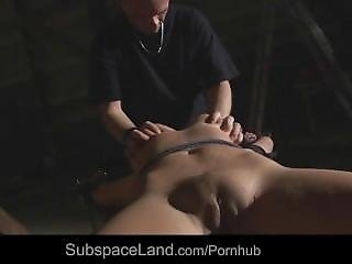 Busty Slave Submitted To Brutal Humiliation Fucked Mouth Drilled With Sperm