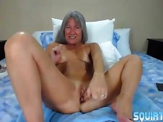Mature Leilani With Glasses Pounds Her Squirting Pussy