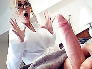 Mature Stepmom Shows Young Guy The Way To Use His Cock