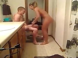 Hot Slut Sister Gives Brother Bathroom Blowjob And Fuck
