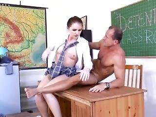 Detention Classroom (3 Schoolgirls)
