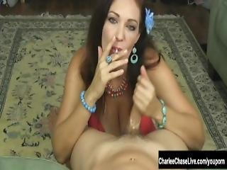 Smoking Hot Milf Charlee Chase Jerks A Hard Cock