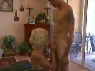 Tante, Gros Téton, Blonde, Pipe, Mature, Milf, Jeune