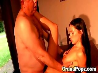 Petite Girl Pounded By Horny Grandpa