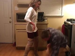 Ballbusting Thigh High Heels