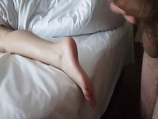Flash And Caught Then Masturbating On Feet