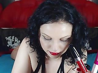 Red Lipstick On Cock