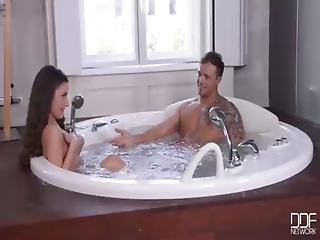 Two Teen Euro Nymphos Have Group Sex In Luxury Jacuzzi