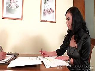 Hot Student Caught On Cheating...