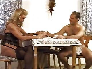 German, Granny, Mature, Stocking, Young