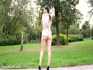 Ass, Big Ass, Brunette, Flashing, Panties, Pretty, Public, Skirt, Upskirt