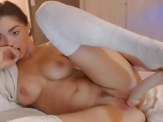 Amateur Teen Naked And Masturbating Caught By Maid In Webcam