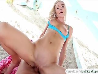 Sexy Blonde Babe Molly Mae Fucks A Stranger In The Beach