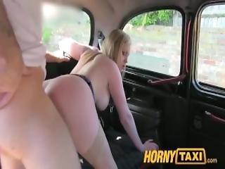 Hornytaxi Blonde With Massive Natural Tities Makes Extra Cash