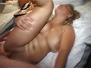 Chubby Dutch Blonde Spends Her Night In A Hotel Room