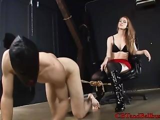 Sexy Goddess Teases Her Bondage Slave