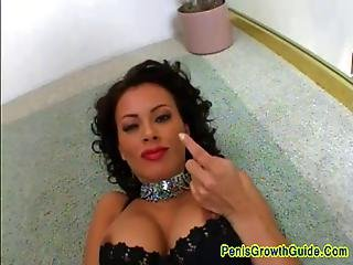 Big Tits Latina Screwed In The Ass And Swallow Cum