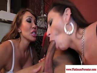 Sara Jay And Ava Devine Share His Cock