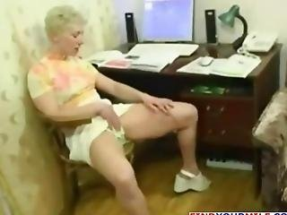 Older Woman With Short Hair Gets Doggy Style Fucked