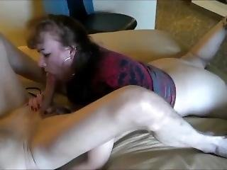 Horny Wife Taking A Skillful Blowjob On Cam