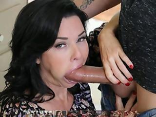 pijp, brunette, hardcore, oraal