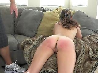 Nude Girl Gets Her Sexy Ass Punished With Belt