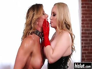 Ariel X And Another Lesbian Finally Get To Masturbate With Big Toys