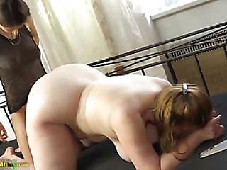 Oldnanny Chubby Busty Granny Masturbate With Strapon And Teen