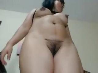 Cú, Grande Cú, Grandes Mamas, Recompensa, Peluda, Excitada, Latina, Milf, Cona, Sexy