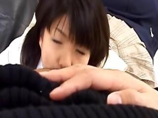 Rin Doll In School Uniform Sucks Phallus And Licks Crown Jewels