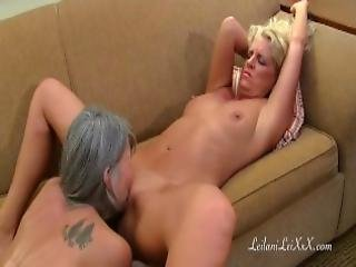 blond, exgf, langt hår, fisse, små bryster, squirt, sol linjer