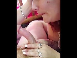 obciąganie, kapelusz, punkt widzenia, seksowna, tatuaż, żona
