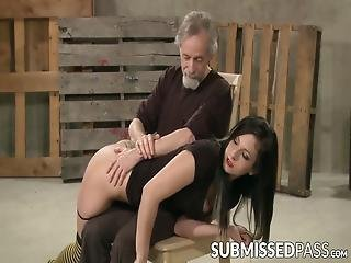 Submissive Beauty Paddled And Whipped By Mature Dom! This Hottie Is Always Ready To Submit To Her Dominant Master!
