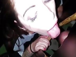 Wife At Gloryhole Sucking A Stranger