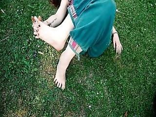 Little Feet Relaxing Outdoor.