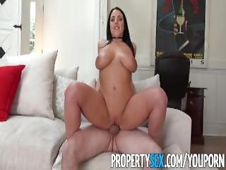 Propertysex Busty Tenant Addicted To Sex Fucks Landlord
