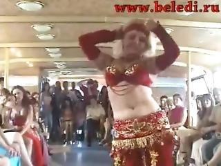 Sexy Blonde Belly Dancer