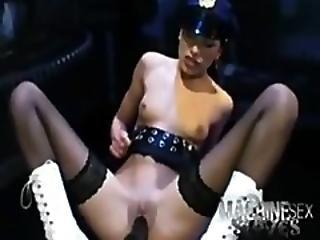 Female Cop Fucks With Sex Machine