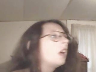 Brunette Crack Whore In Glasses Sucking Dick Pov