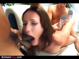 Her First Extreme Bukkake Gangbang