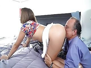 Teen Amateur Rimmed And Doggystyled By Oldguy