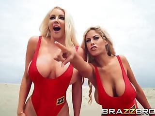 Busty Blonde Babes Nicolette And Bridgette Decided To Share A Long Schlong They Enjoy Giving Head And Getting Their Cunts Filled In A Threesome
