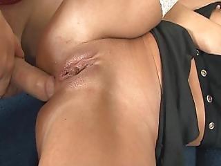 anal, avsugning, brunett, cumshot, tysk