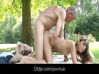 Teen Step Sister Masturbating Outdoor Doggy Style Fucked Old Man Cum Eating