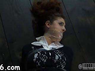 Naughty Tied Up Slave Receives Pounderous Caning