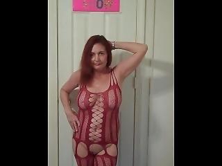 amadores, lingerie, masturbação, madura, milf, ruiva