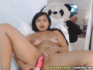 Hottie Girl Screwed Herself With Pink Toy