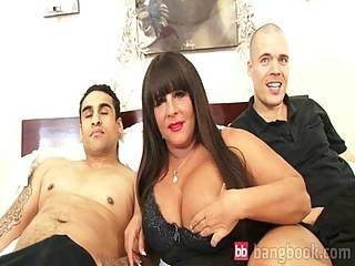 Massaged busty brunette rebecca