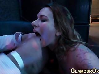 Orgy Slut Gets Facial